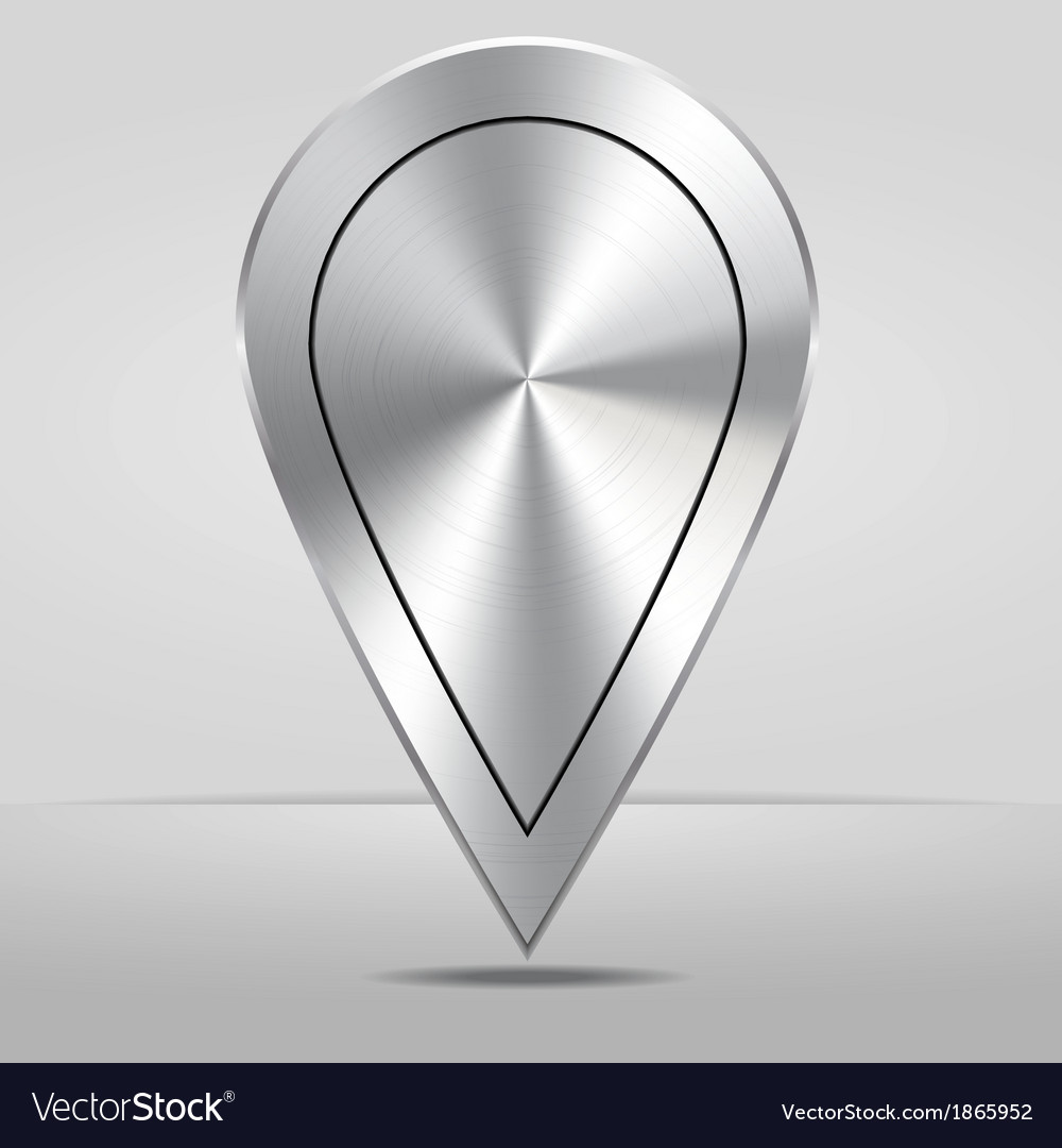 Silver map location pointer icon vector | Price: 1 Credit (USD $1)