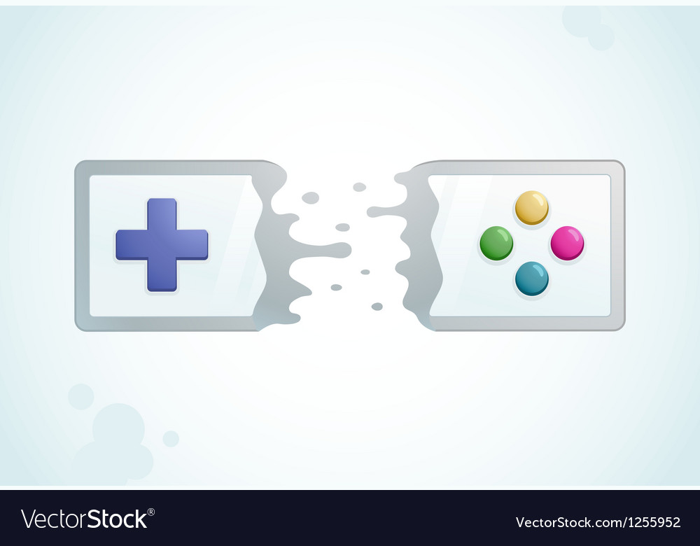 Split gamepad vector | Price: 1 Credit (USD $1)