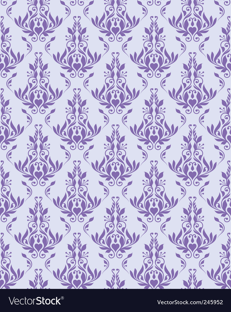 Violet seamless floral texture vector | Price: 1 Credit (USD $1)