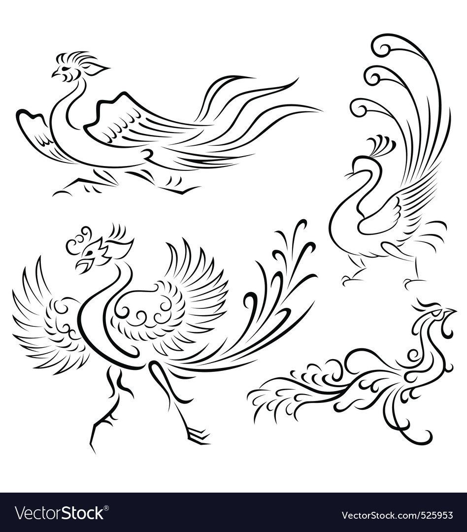 Bird tattoo vector | Price: 1 Credit (USD $1)
