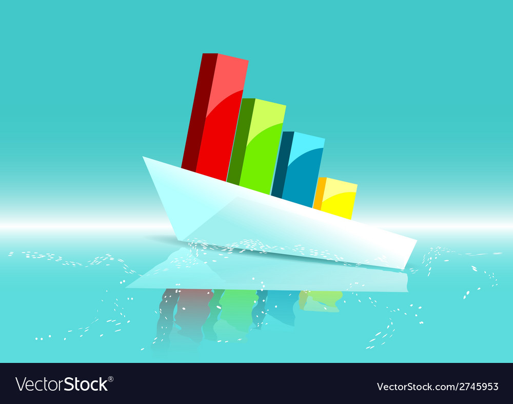 Business ship as graph vector | Price: 1 Credit (USD $1)