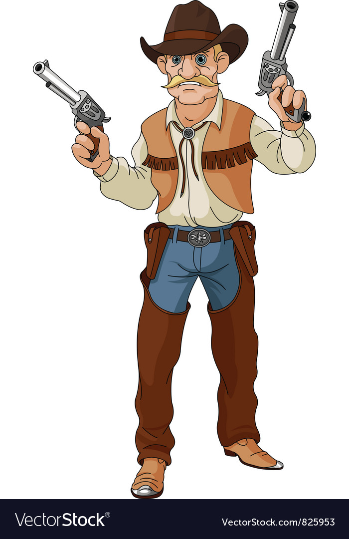 Cowboy ready for shootout vector   Price: 3 Credit (USD $3)