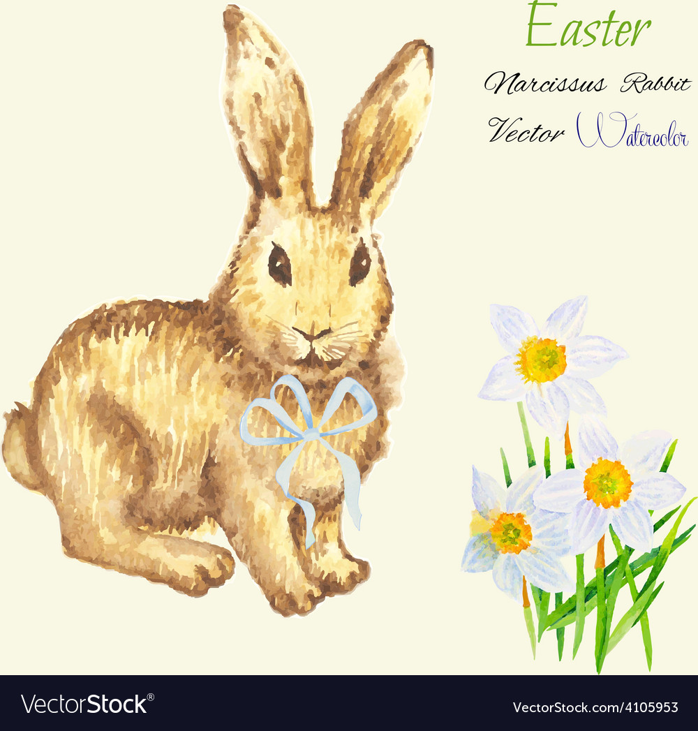 Easter background with rabbit vector | Price: 1 Credit (USD $1)
