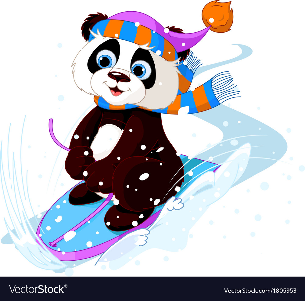 Fast fun panda vector | Price: 1 Credit (USD $1)