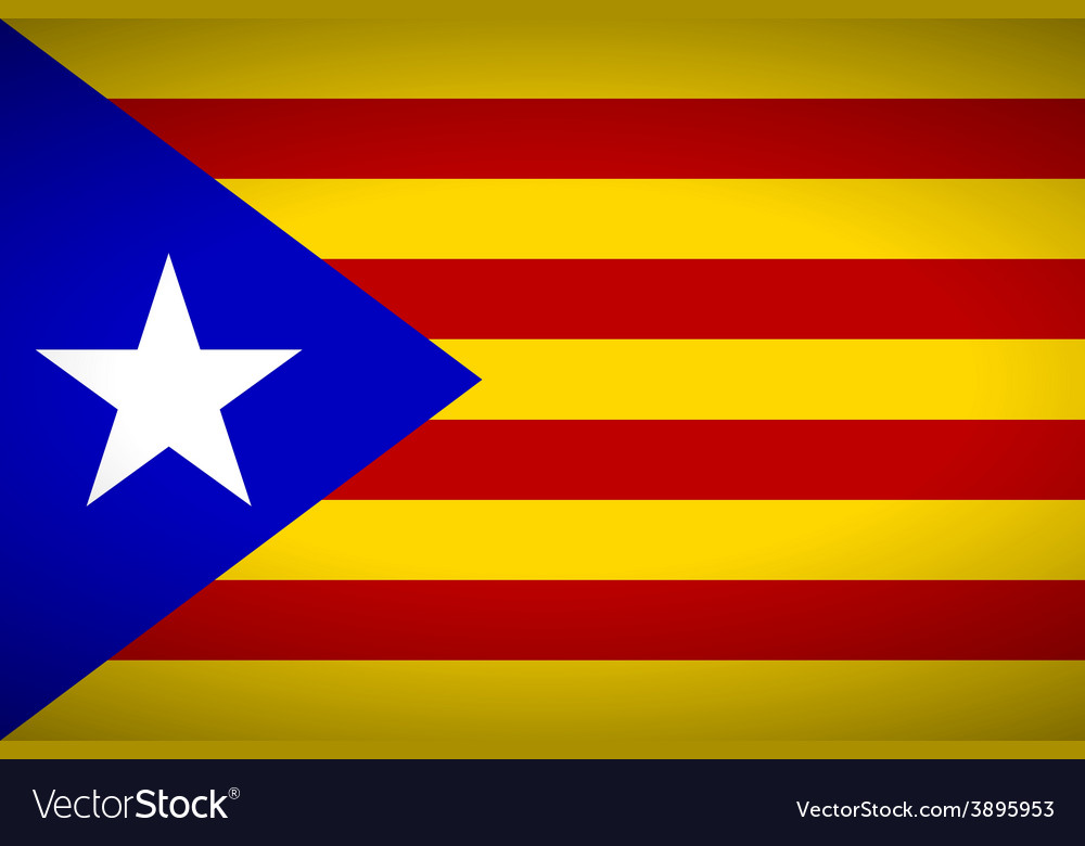 Flag of catalonia vector | Price: 1 Credit (USD $1)