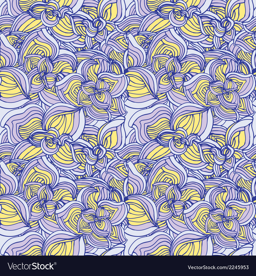 Flowers abstract seamless pattern vector | Price: 1 Credit (USD $1)