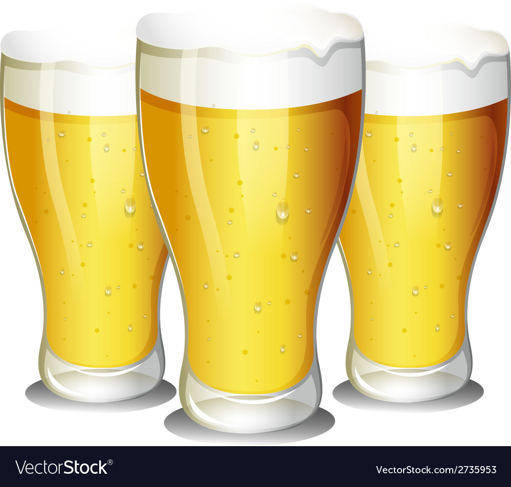 Glasses of beer vector | Price: 1 Credit (USD $1)