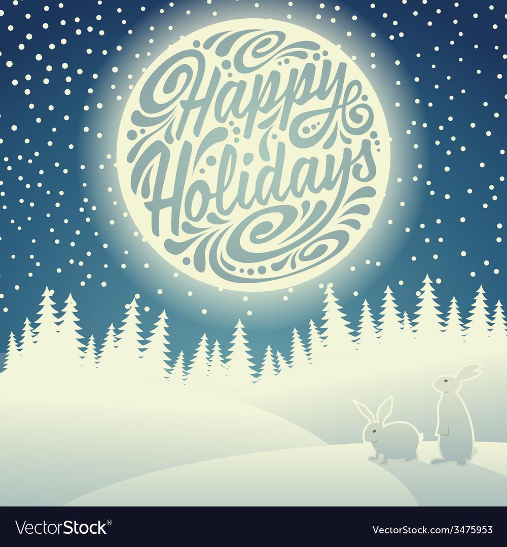 Holidays greeting card vector