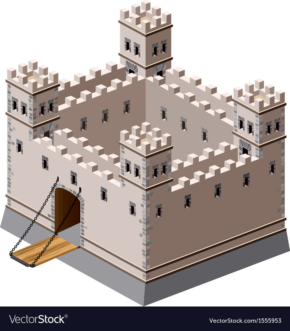 Medieval fortress vector | Price: 1 Credit (USD $1)