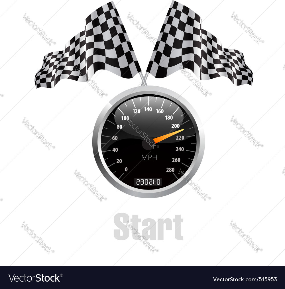 Race flag speedometer vector | Price: 1 Credit (USD $1)