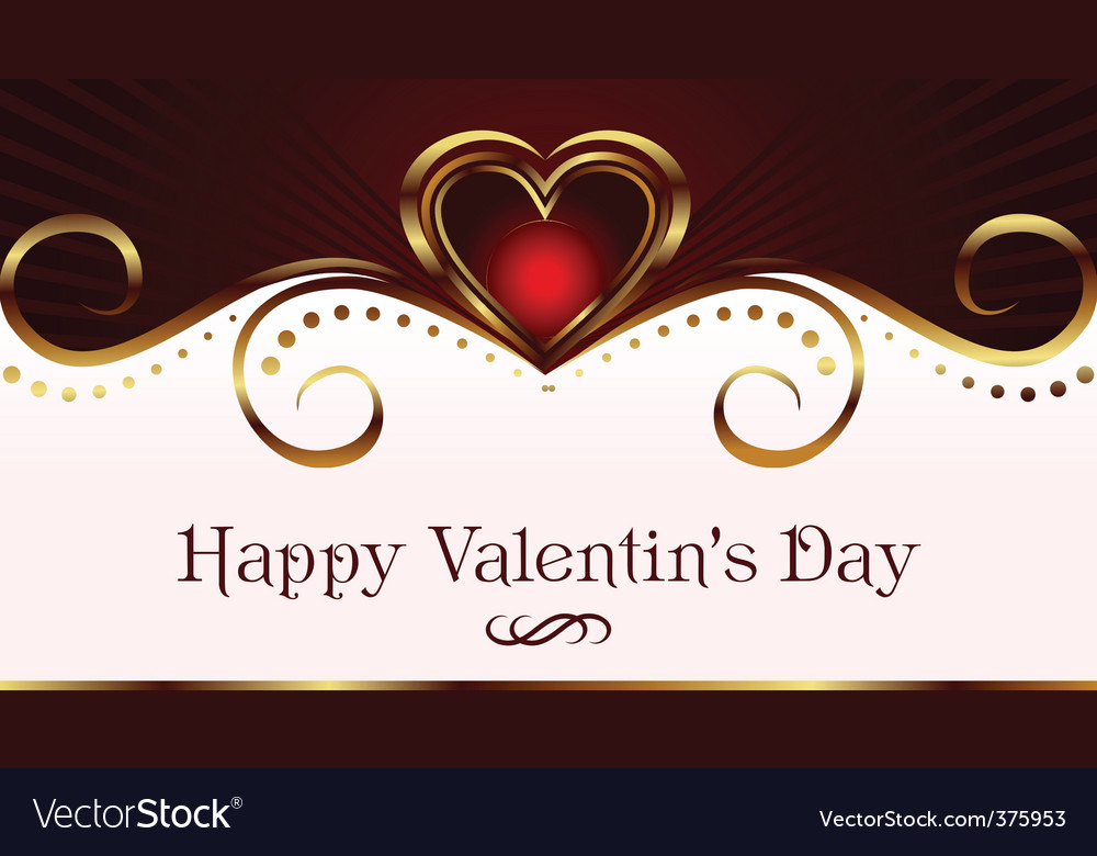 Romantic card for valentines day vector | Price: 1 Credit (USD $1)