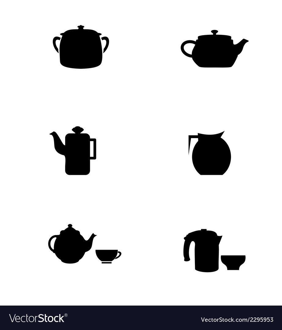 Teapot silhouette vector | Price: 1 Credit (USD $1)