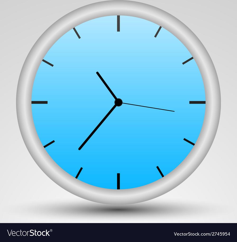 A blue clock vector | Price: 1 Credit (USD $1)
