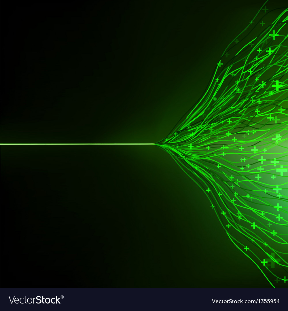 Abstract green energy design against dark eps 10 vector | Price: 1 Credit (USD $1)