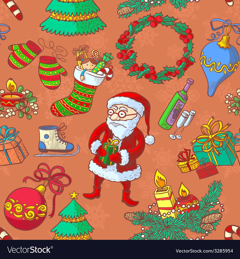 Christmas seamless vector | Price: 1 Credit (USD $1)