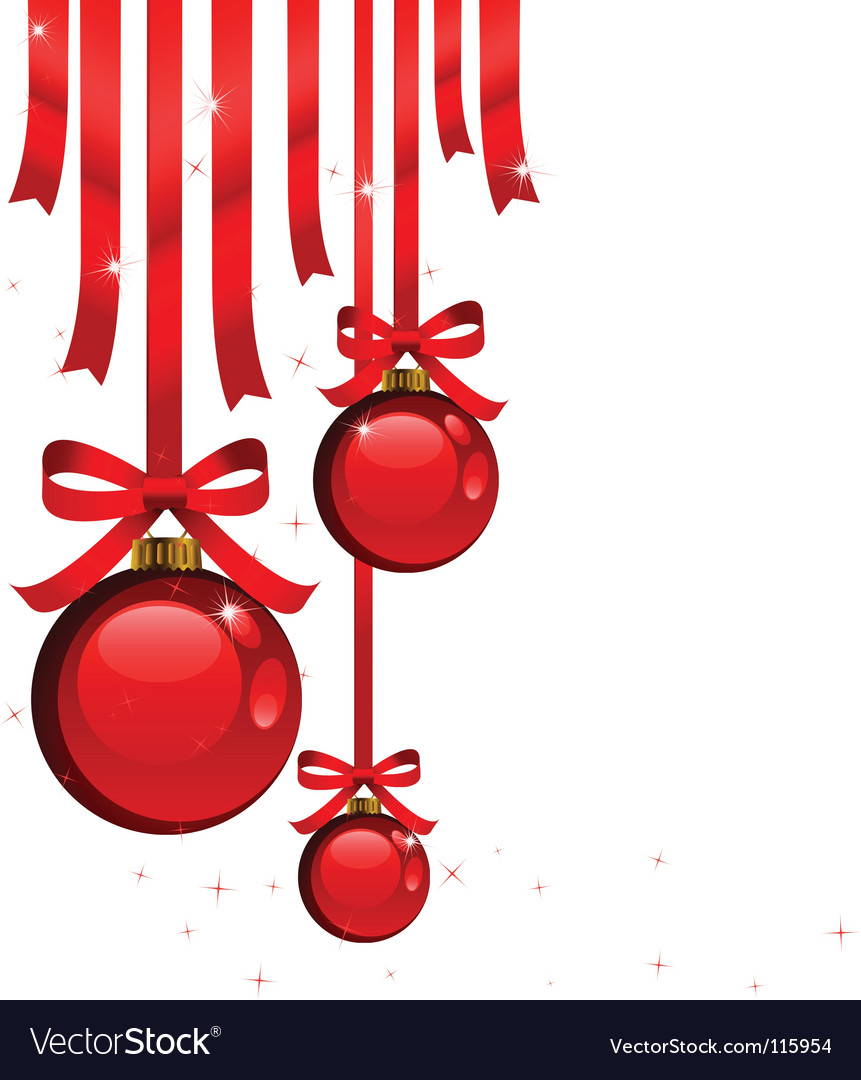 Christmas tree decorations vector | Price: 1 Credit (USD $1)