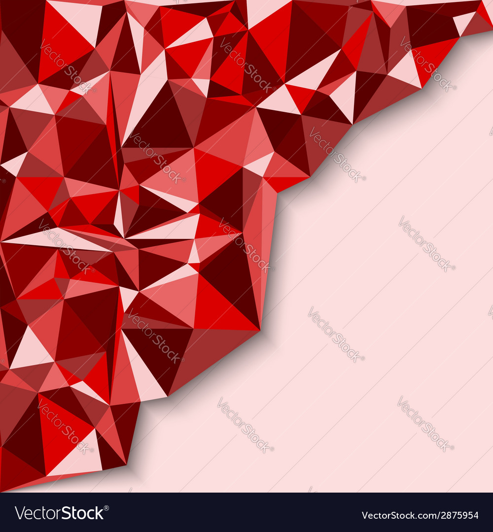 Geometric abstract background in red tones vector | Price: 1 Credit (USD $1)