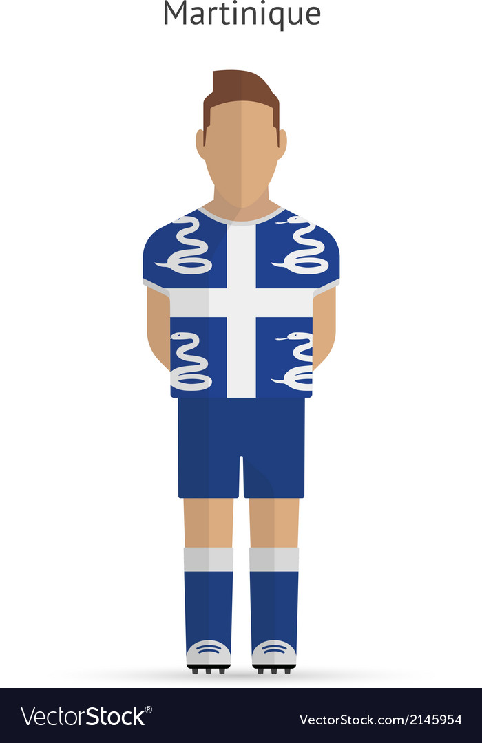 Martinique football player soccer uniform vector | Price: 1 Credit (USD $1)