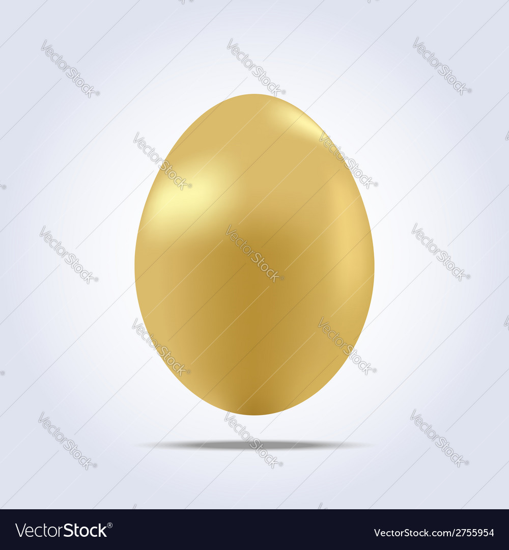 One big golden easter egg icon vector | Price: 1 Credit (USD $1)