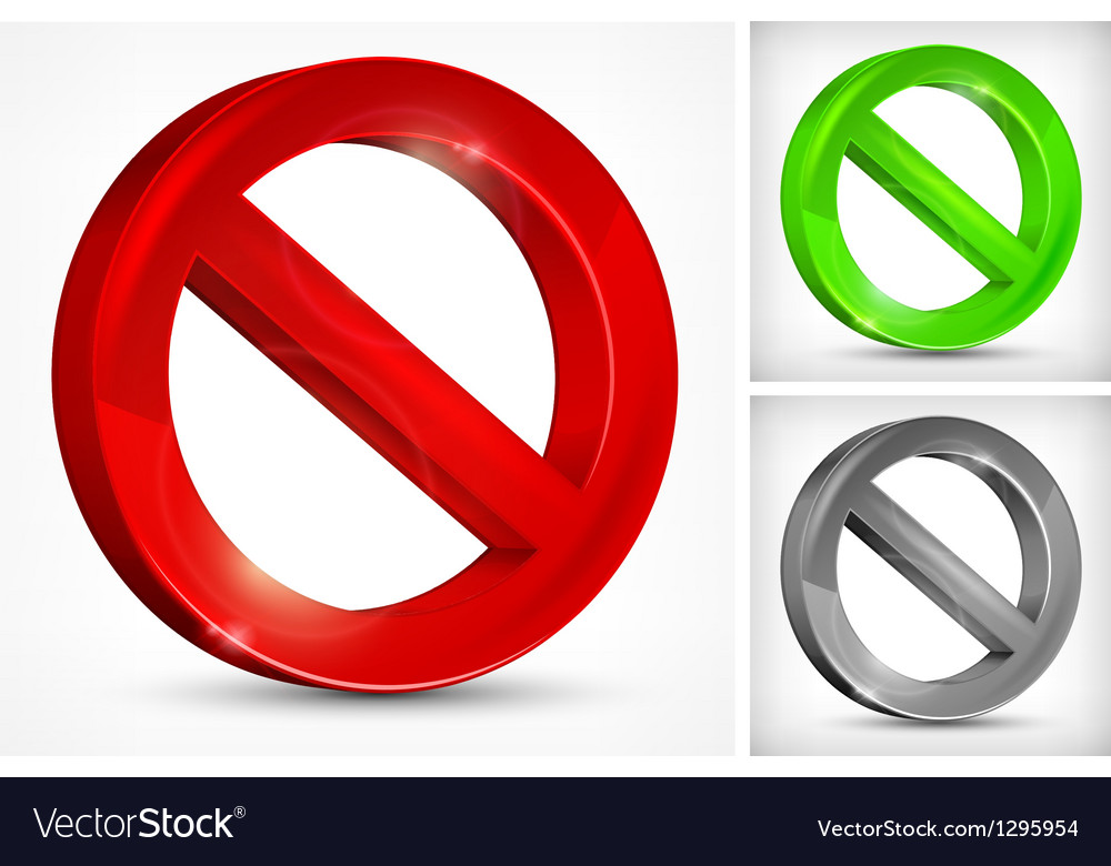 Red slashed circle vector | Price: 1 Credit (USD $1)