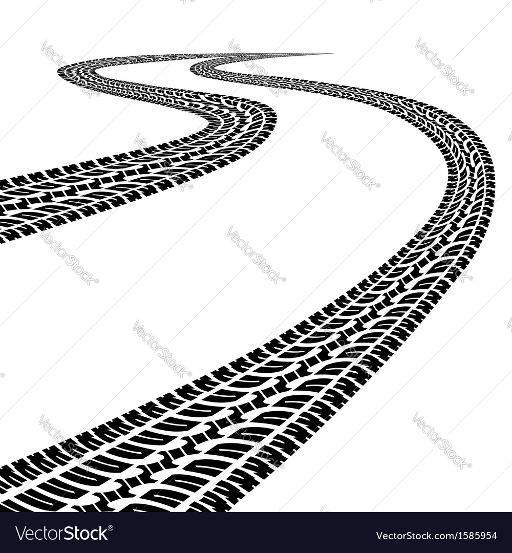 Road with traces vector | Price: 1 Credit (USD $1)