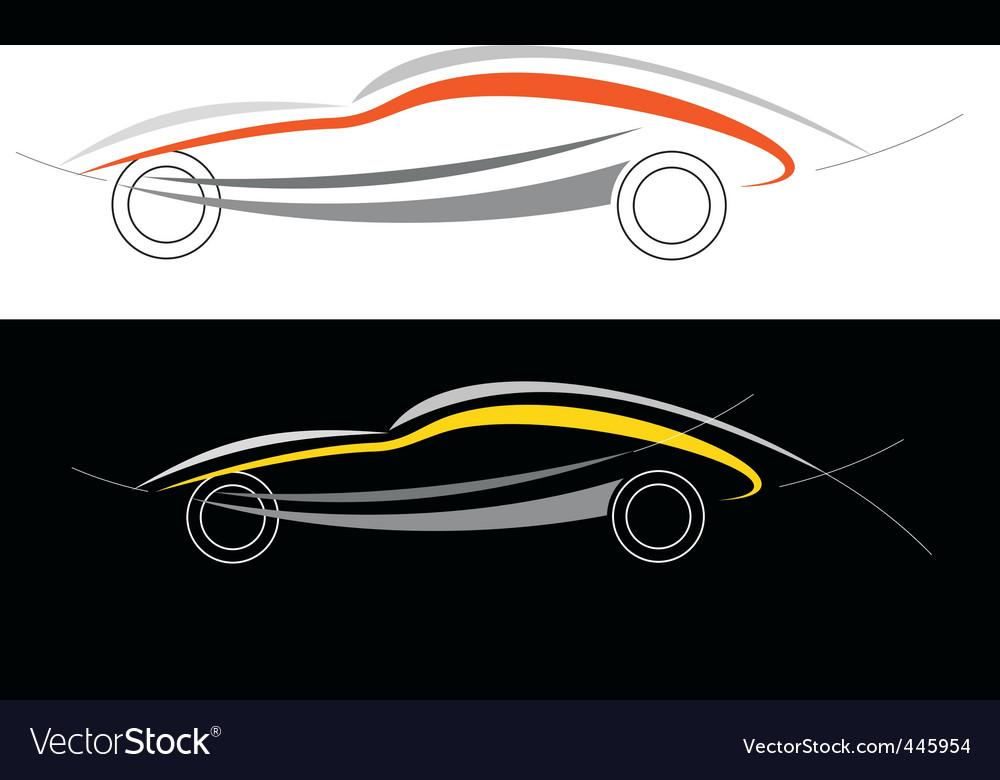 Sport car logo vector | Price: 1 Credit (USD $1)