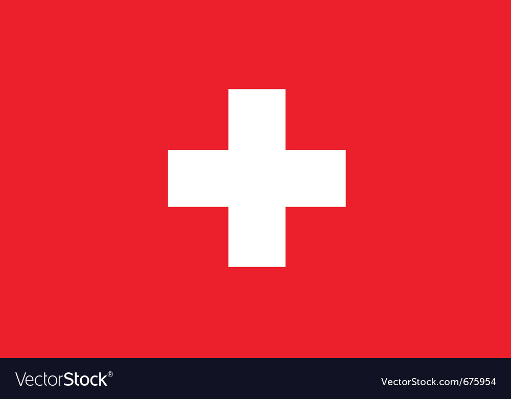 Swiss flag vector | Price: 1 Credit (USD $1)