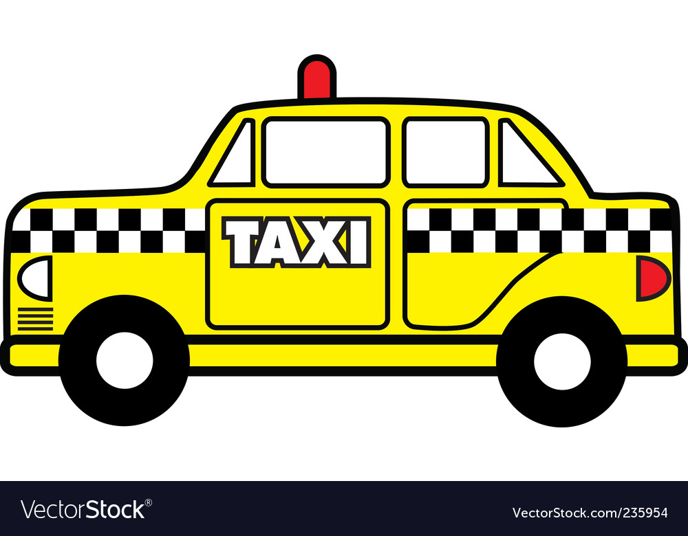 Taxi cab vector | Price: 1 Credit (USD $1)