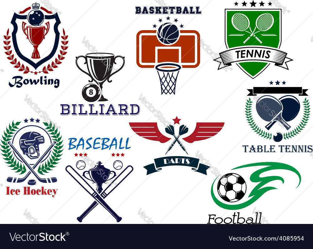 Variety sports icons set vector | Price: 1 Credit (USD $1)