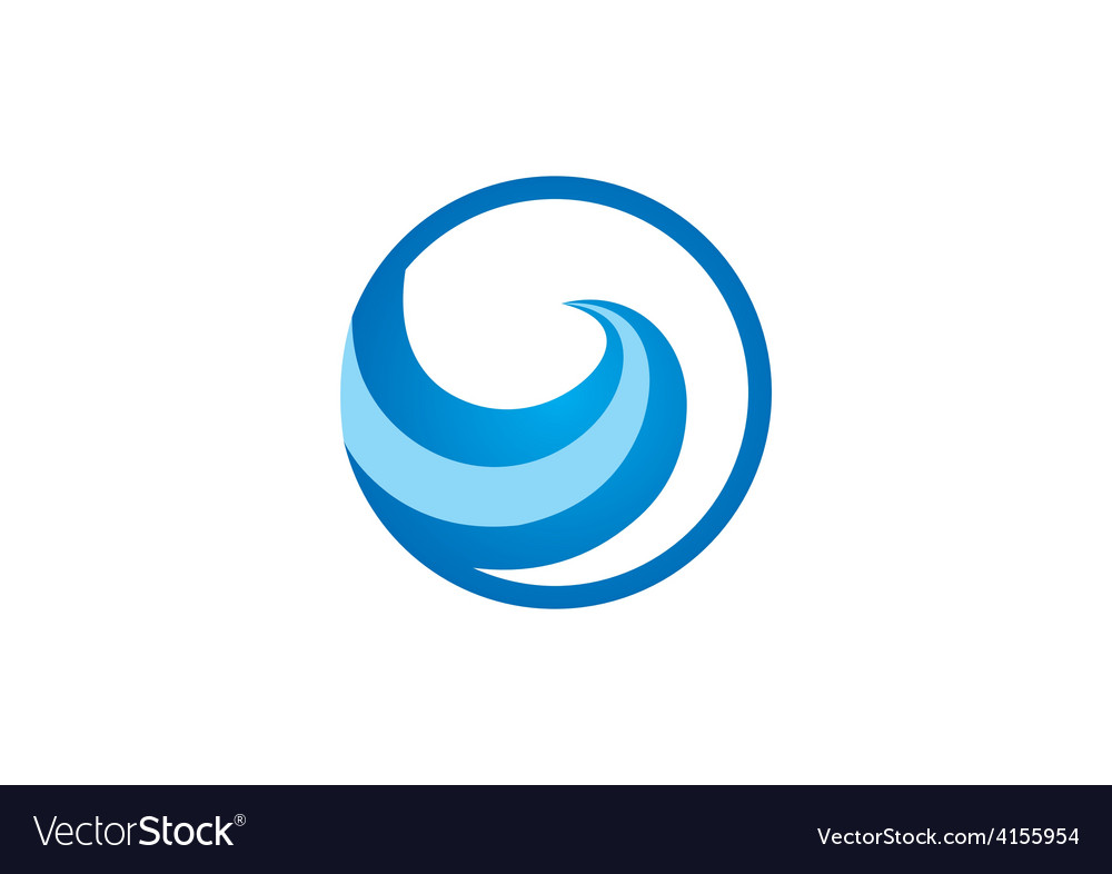 Water symbol abstract wave logo vector | Price: 1 Credit (USD $1)