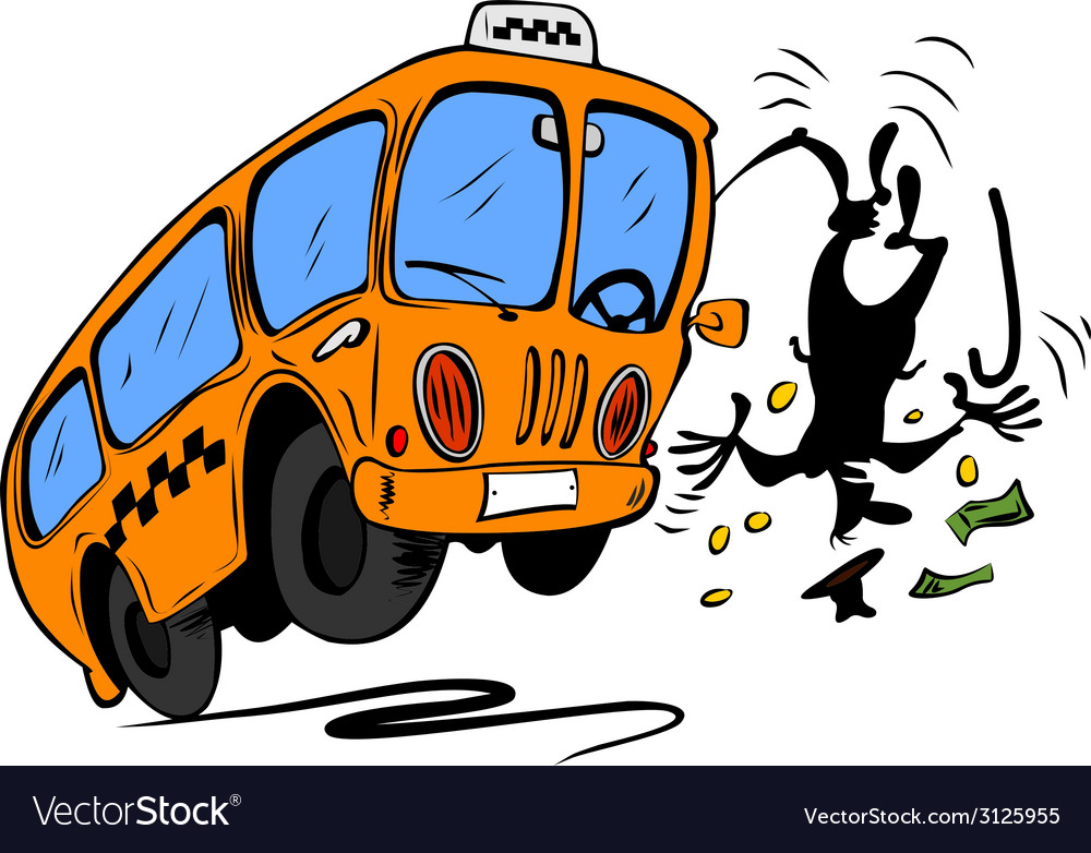 Angry bus requires money from man vector | Price: 1 Credit (USD $1)