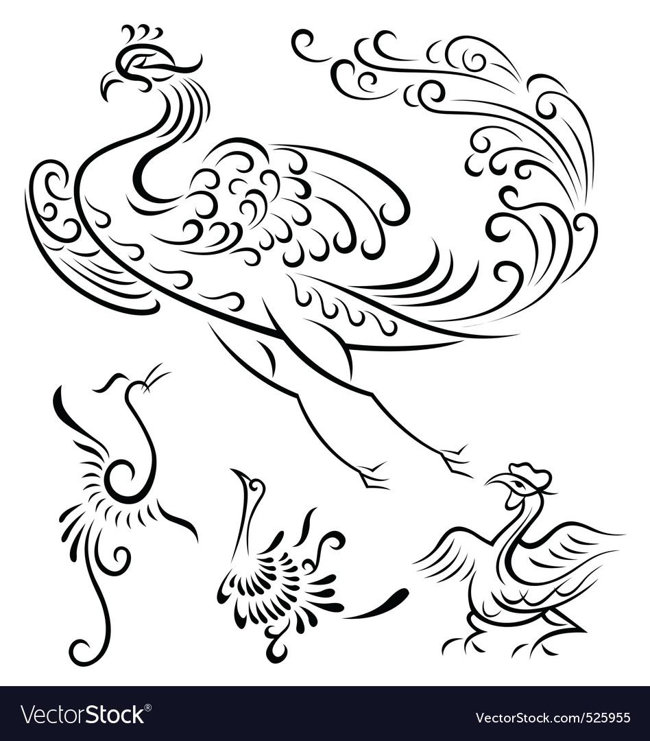 Bird tattoo design vector | Price: 1 Credit (USD $1)