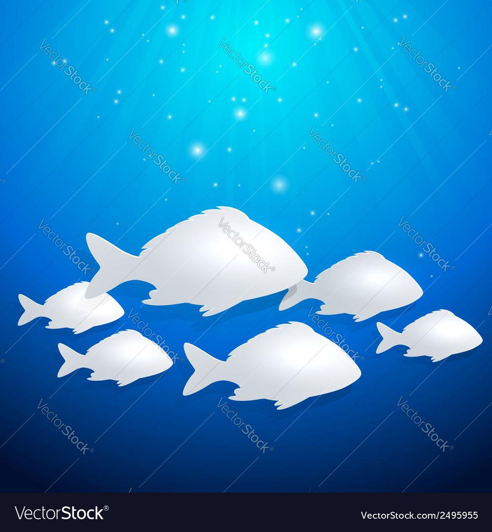 Blue marine background vector | Price: 1 Credit (USD $1)