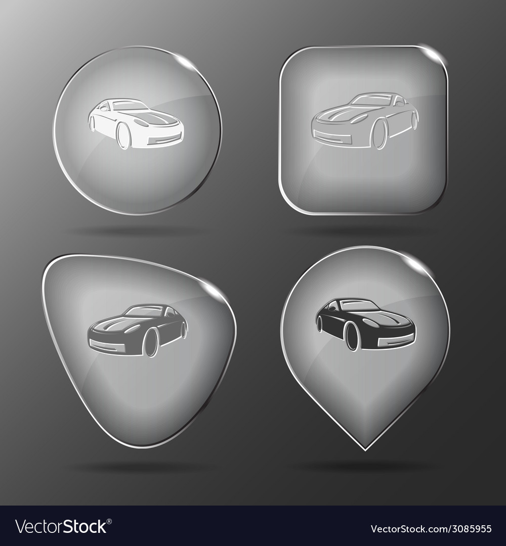 Car glass buttons vector | Price: 1 Credit (USD $1)