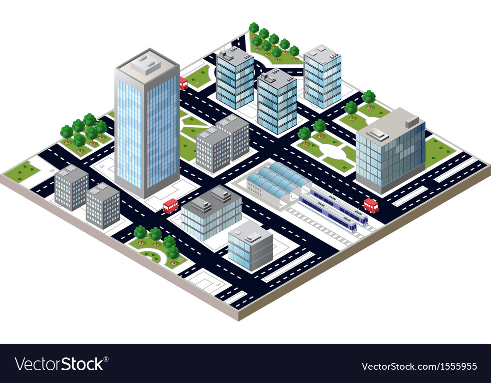 City block vector | Price: 1 Credit (USD $1)