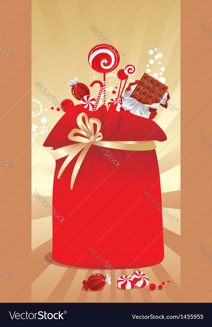 Gift sack with candy vector | Price: 1 Credit (USD $1)