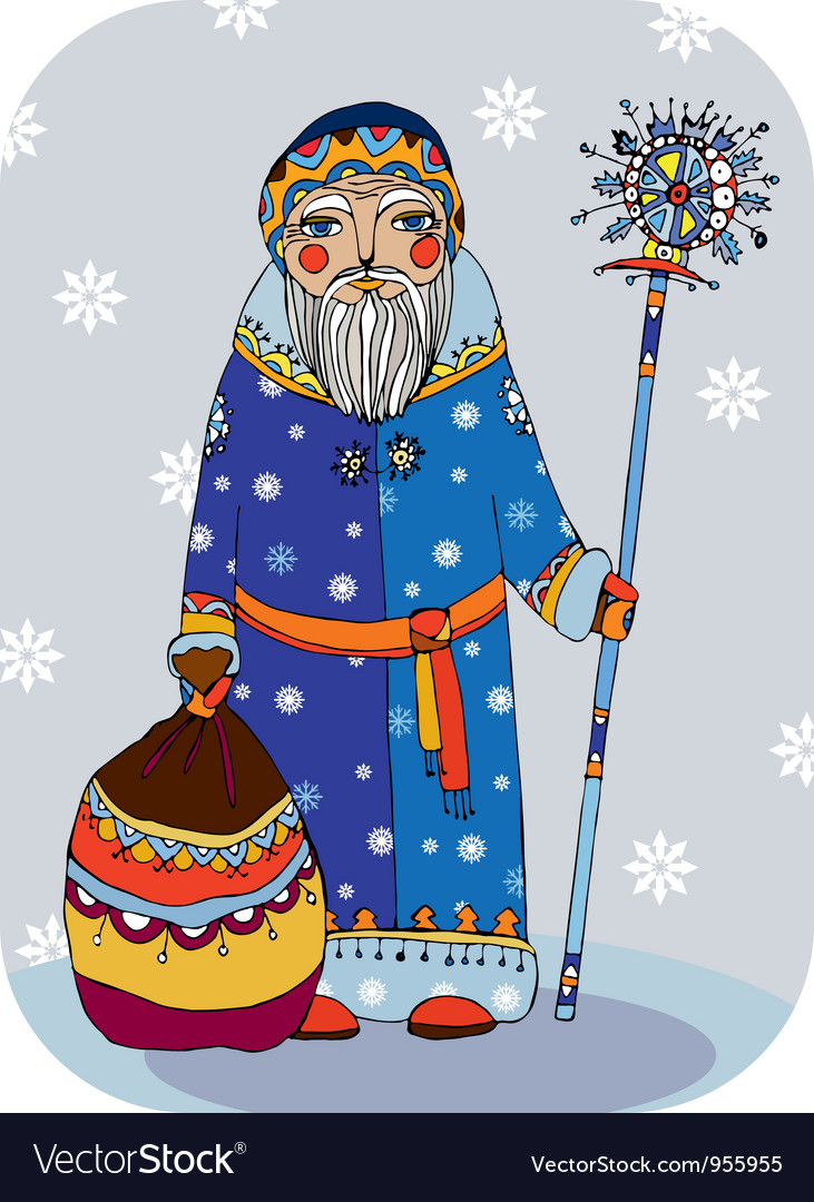 Grandfather frost vector | Price: 1 Credit (USD $1)