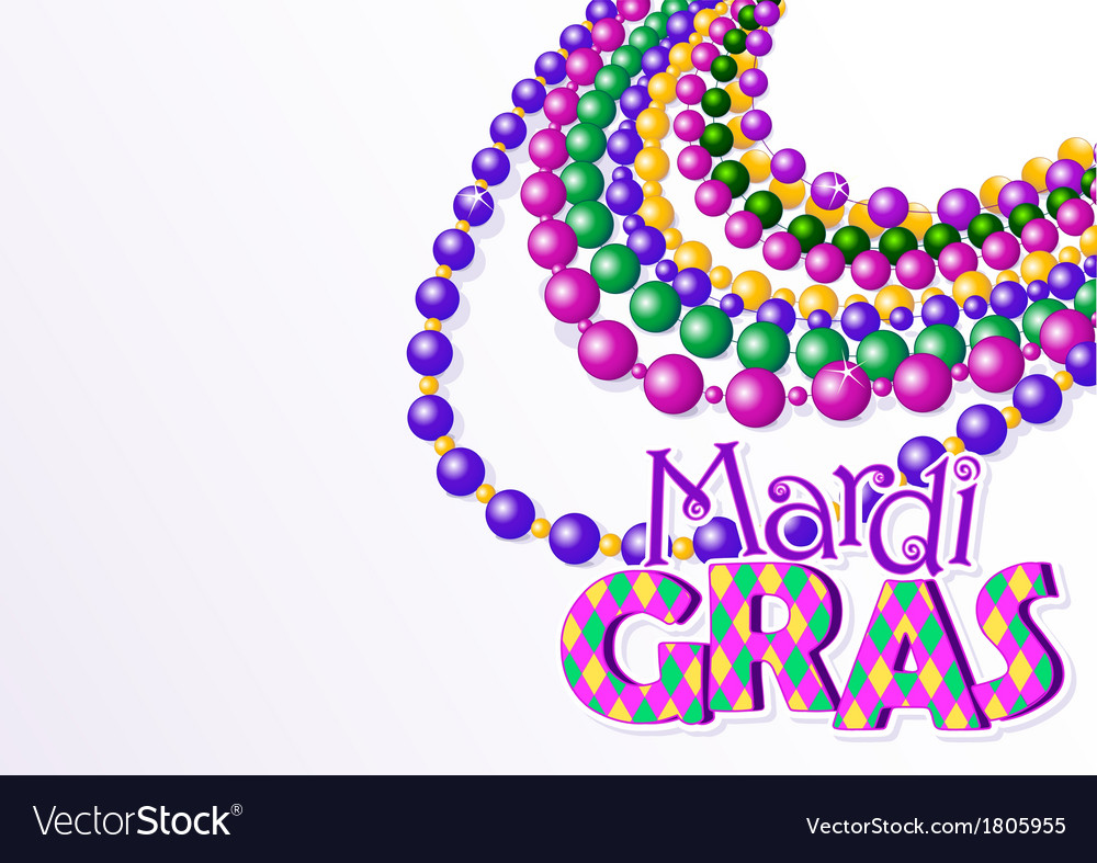 Mardi gras beads background vector | Price: 1 Credit (USD $1)