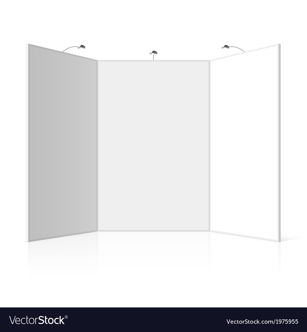 Portable folding presentation display board vector | Price: 1 Credit (USD $1)