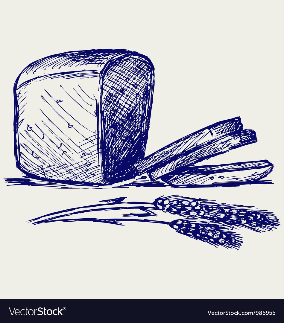 Rye bread vector | Price: 1 Credit (USD $1)