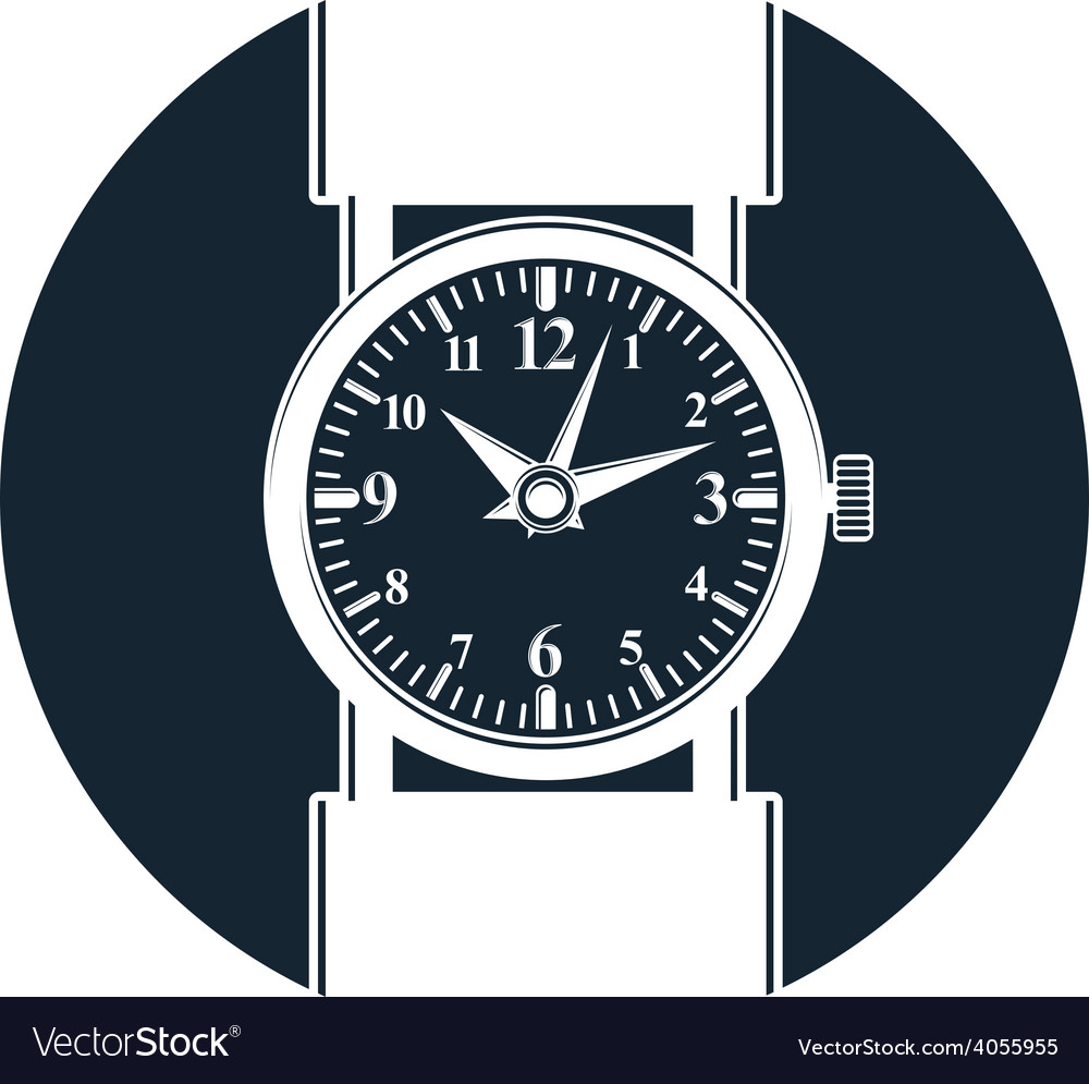Simple wristwatch graphic classic hour hand vector   Price: 1 Credit (USD $1)