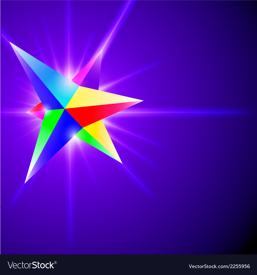 Abstract background with glowing crystal vector | Price: 1 Credit (USD $1)