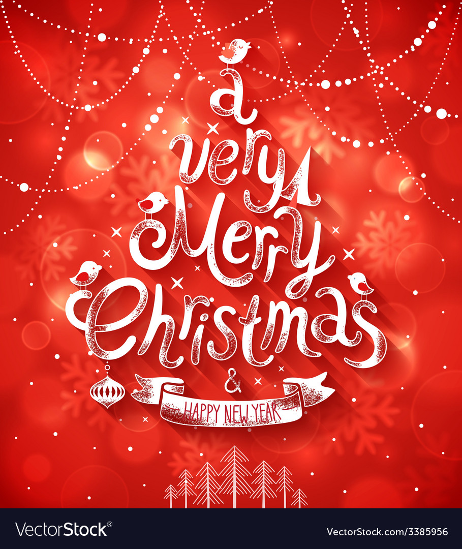 Christmas blurred red bg vector | Price: 3 Credit (USD $3)