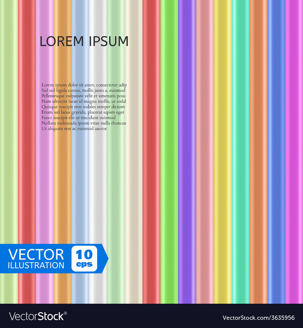 Colorful shiny rods vector | Price: 1 Credit (USD $1)