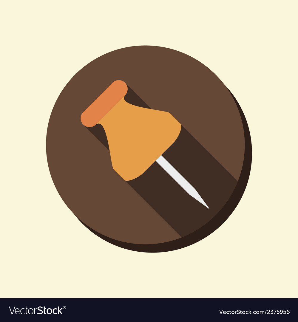 Flat circle web icon pin for papers vector | Price: 1 Credit (USD $1)