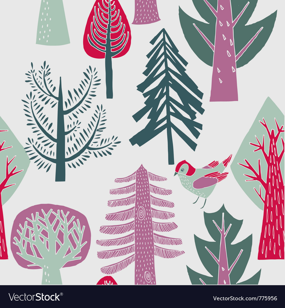 Flat forest wallpaper vector | Price: 1 Credit (USD $1)