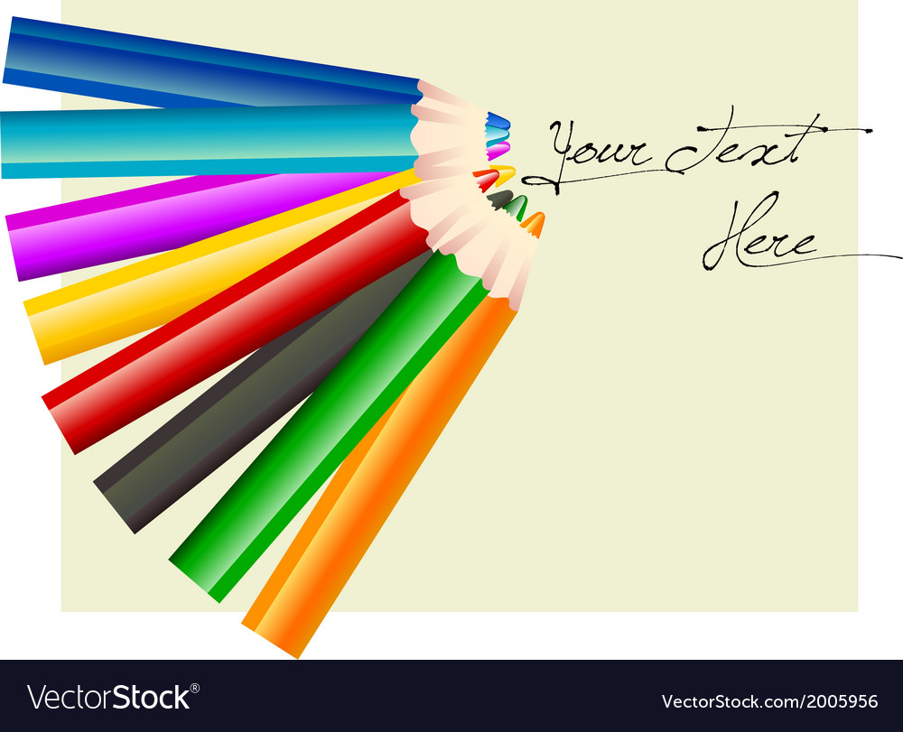 Group of eight different colored pencils vector | Price: 1 Credit (USD $1)