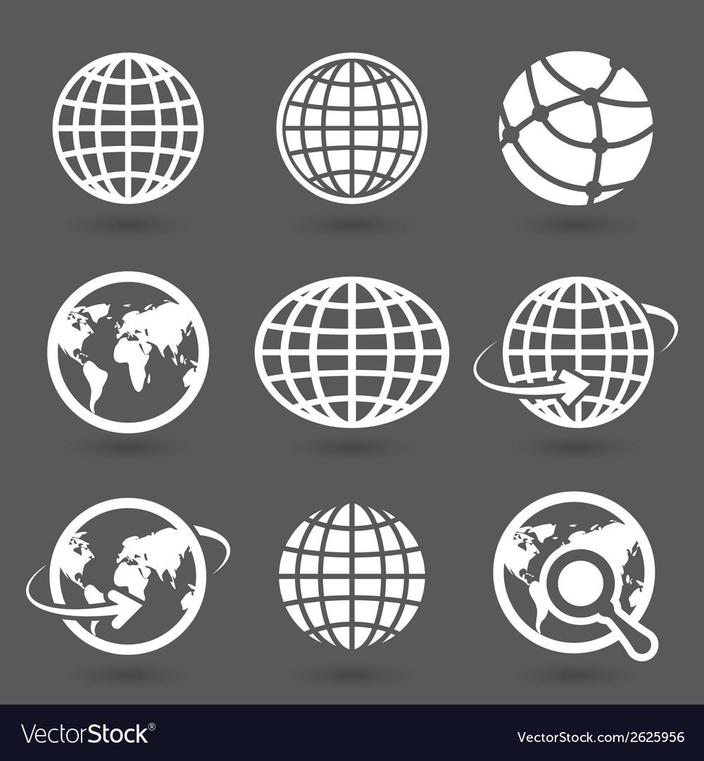 Icon globes vector | Price: 1 Credit (USD $1)