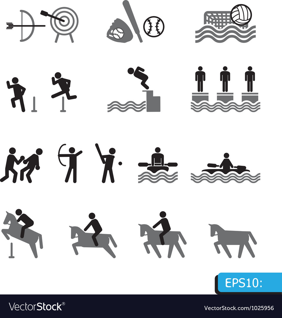 Icons sport vector | Price: 1 Credit (USD $1)