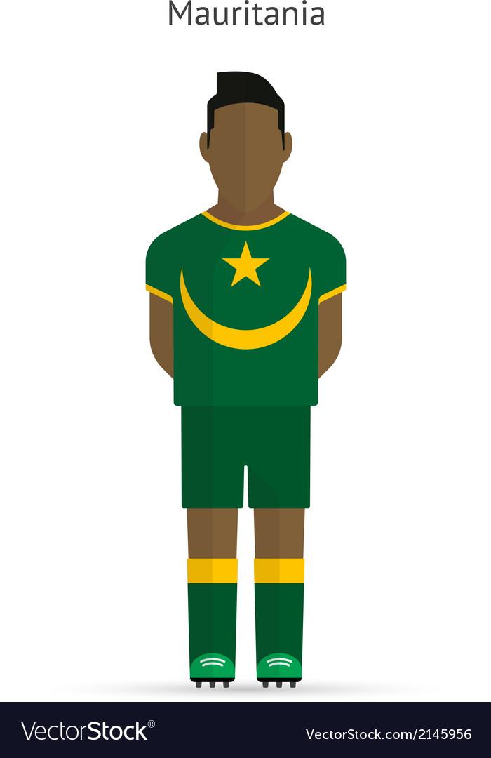 Mauritania football player soccer uniform vector | Price: 1 Credit (USD $1)